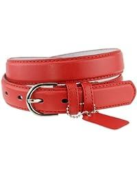 Simple et classique ceinture en cuir avec boucle ronde. Parfaite pour toutes occasions. H001