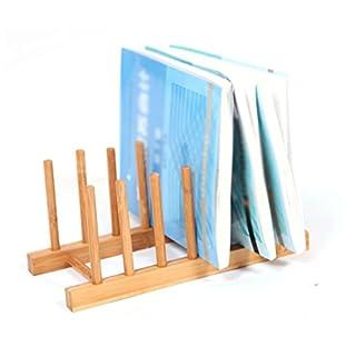 DFHHG® Bücherregal, Cup Holder Dish Racks Bambus Korrosionsschutz Durable 27 * 12 * 12Cm dauerhaft