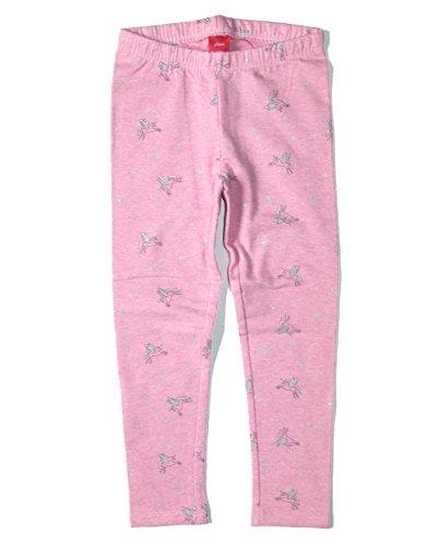 S.OLIVER Mädchen warme Leggings / Thermoleggins / Leggins mit Einhorn Motiv Innen mit Fleece Gr. 92-140 in rosa melange 43A3 (122)