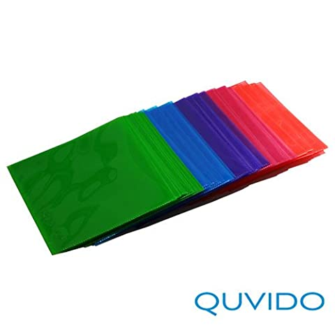 50 QUVIDO CD/DVD/Blu-Ray PP Schutzhüllen Color-Mix
