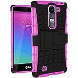 Funda Duro Tapa Case Cover - TOOGOO(R)Para LG Magna(LG G4C/LG G4 mini), Funda Carcasa Duro Tapa Case Cover con soporte (rosa) + Gratis aguja de la pantalla stylus universales