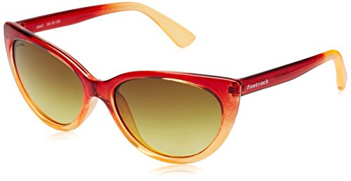 Fastrack UV Protected Cat Eye Women's Sunglasses - (P311YL2F|54|Yellow Color) image