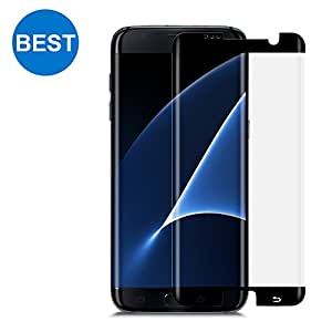 Samsung Galaxy S7 Edge Screen Protector TANAAB [9H Glass][Case Friendly][3D Curved Protection][Ultra HD][Anti-Bubble] - Black