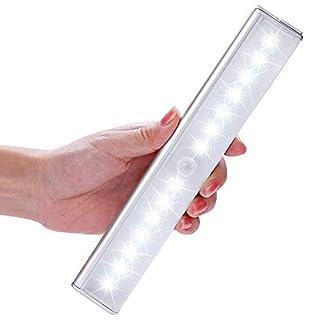 14LED – Lichtleiste, LOFTer 4 Licht Modus,mittels USB Kabel geladen werden, mit einem Magnetstreifen installieren, Nachtlichter mit Bewegungsmelder, automatischer Schranklicht (14LED)