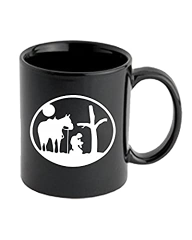 T-Shirtshock - Tasse Mug 11oz FUN1059 cowboy praying at cross with horse die cut vinyl decal sticker 88950, Taille 11oz