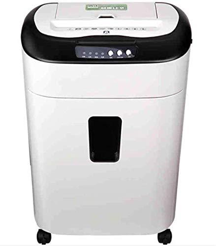 SILOLA 80-Blatt-Aktenvernichter Electric Office Hochleistungs-Pulverisierer Automatischer Papiereinzug 3 Stunden Endlospapier Zerstören von CDs-Kreditkarten Papier 19 Liter