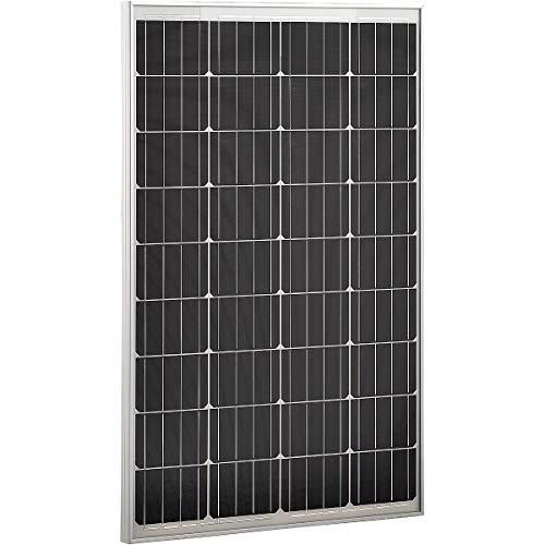 ECTIVE Monokristallines Solarmodul 12V 100W Solar Zelle Panel Modul für den Outdoor Bereich in 6 Varianten 50-160 Watt - Solar Modul Panel