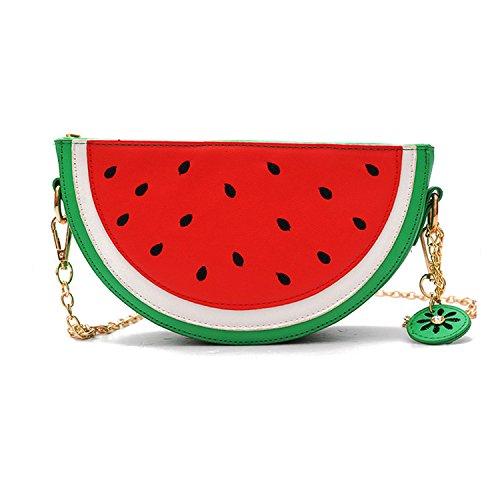 LUI SUI Nette Zitrone Ananas Wassermelone Form Schulter Geldbörsen PU Leder Mini Crossbody Kette Tasche für Frauen Mädchen