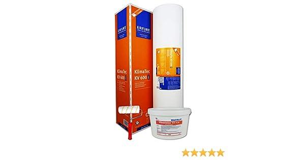8kg Thermovlieskleber WACOLIT-SET 1 Rolle ERFURT KlimaTec Pro KV 600 15m/² Thermovlies D/ämmung f/ür den Innenbereich Kleisterroller