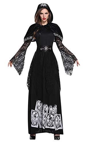 DEMU 3tlg. Damen Vampir Kostüm Viktorianischen Lang Halloween Zombie Braut Prinzessin L (Viktorianische Braut Kostüm)