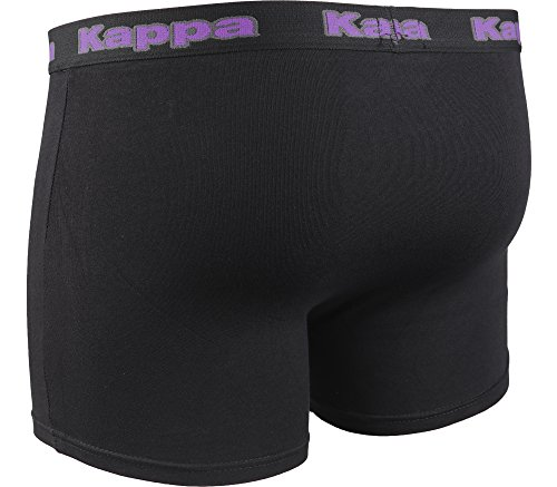 Kappa Herren modische Boxershort Schwarz/Violett-30556