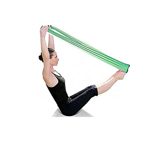 Bluester Pilates Yoga Workout Aerobics Stretch Band Tensile Band Elastic Band (Green)