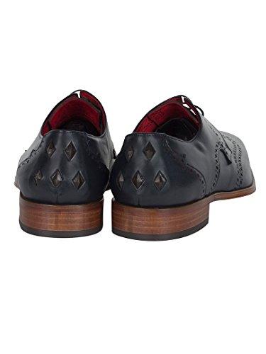 Jeffery West Homme Scarface Calf Chaussures, Bleu Bleu