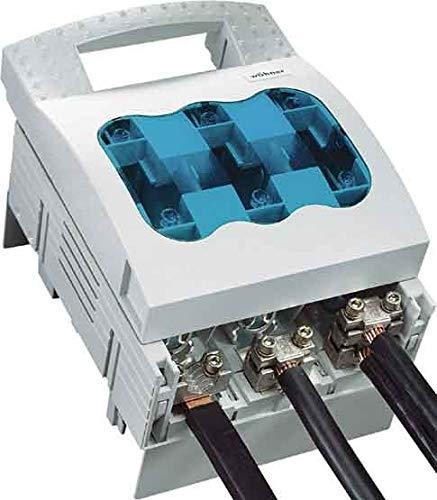 Wohner 33602NH Sicherung switch-disconnector, bus-mounting, M10Anschluss Schraube, unten/oben ausgehendem Terminal, 400Amp, Größe 2 (Schraube Bus Terminal)