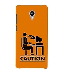 Fiobs Designer Phone Back Case Cover Meizu M3 ( Caution Work Load Stress Quotes )
