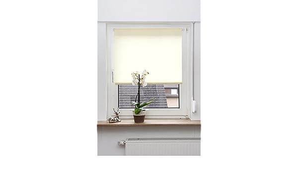 SONDERPOSTEN Tageslichtrollo Seitenzugrollo Beige 80 x 150 cm ohne Bohren