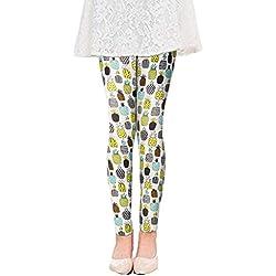 Chicolife niños niñas pantalones largos historieta piña impresión patrón tobillo longitud Leggings básicas 5-7t