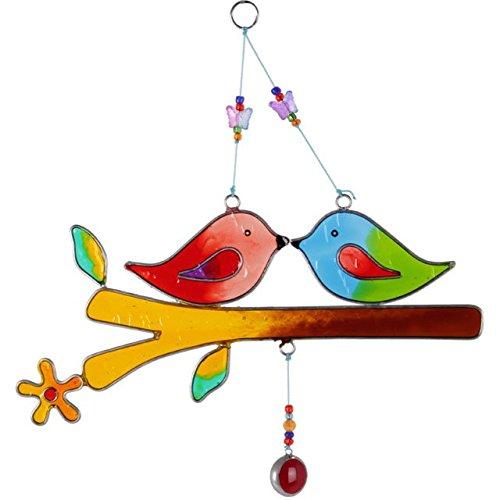 Jones Home und Geschenk Love Birds auf Einem Stock, Mehrfarbig
