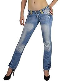 S&LU absolut angesagte Damen Jeanshosen verschiedene Modelle in Bootcut oder Röhre mit tollen Designs Blumen - Stickereien Strassapplikationen in verschiedenen Größen