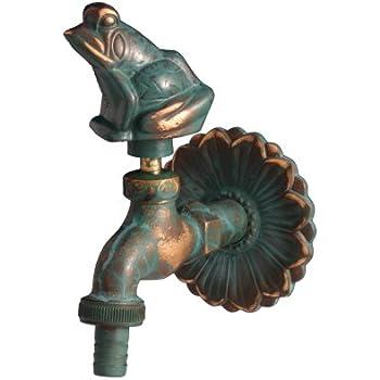 Antik Wasserhahn VOGEL Messing Grünspan-Patina incl