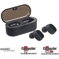 auvisio Kopfhörer: True Wireless In-Ear-Stereo-Headset, Bluetooth 4.2 (20 m), Lade-Etui (True Wireless Kopfhörer)
