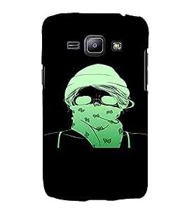 PrintVisa Cool Girl 3D Hard Polycarbonate Designer Back Case Cover for Samsung Galaxy J1 (2016 Edition)