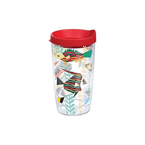 Tervis pesce, Bicchiere con coperchio, colore: rosso, 16 (Pesce Tumbler)
