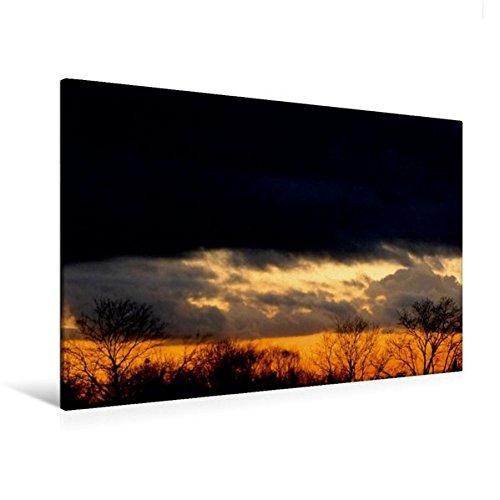 Calvendo Premium Textil-Leinwand 120 cm x 80 cm quer, Sonnenuntergang | Wandbild, Bild auf Keilrahmen, Fertigbild auf echter Leinwand, Leinwanddruck: Tagesausklang Natur Natur