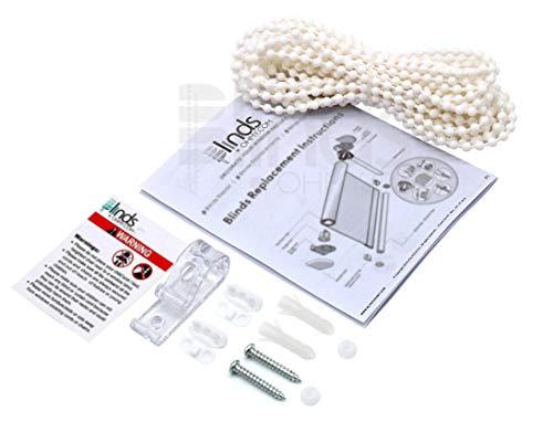 Rodillo y cadena para reparación de cortinas y estores (color blanco, 4 x 6 mm), plástico, 10 Yards