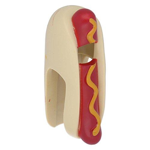 (LEGO® Figuren, Kopfbedeckung Überzug, Hot Dog Kostüm mit Senf)
