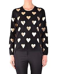 BURBERRY Women's MCBI056303O Black Wool Sweatshirt