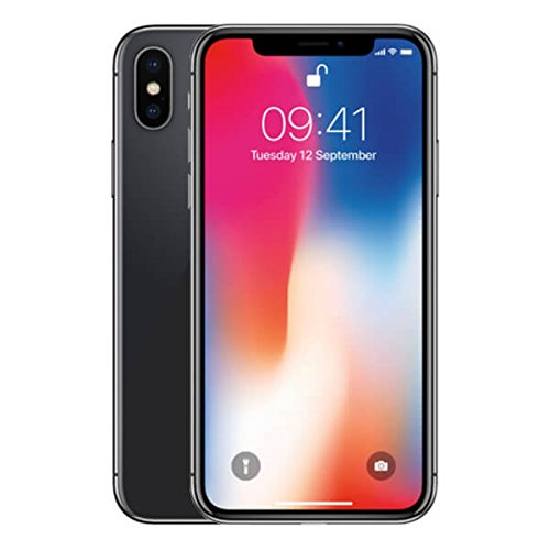 Apple iPhone X Single SIM 4G 64GB Grey - smartphones (14.7 cm (5.8'), 64 GB, 12 MP, iOS,...