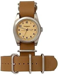 Bertucci h13321Unisex titanio patrimonio marrón banda de piel color beige Dial reloj