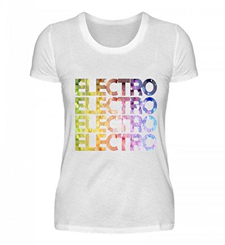 Trance-musik-shirt (Shirtee Hochwertiges Damen Organic Electro - Techno Party Festival Dance Musik Drum and Bass EDM)