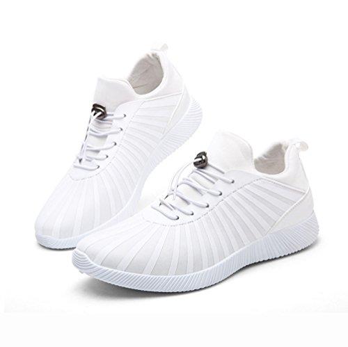 Chaussure de mulitsport d'air homme sneakers bas course basket mode coquille moderne respirant loisir Blanc