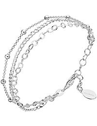 Canyon B5047 Damen-Armband, mehrreihig, Sterling-Silber 925, 19 cm
