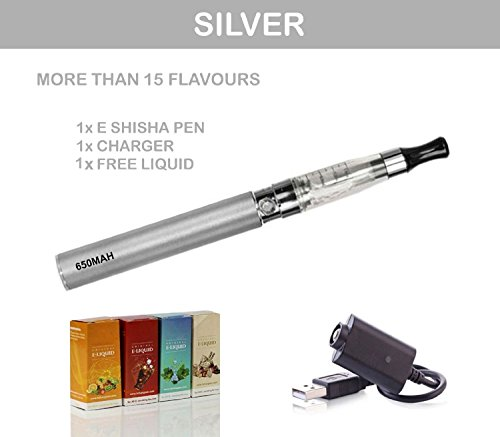 Ego CE4 E-Shisha Elektro-Zigarette aufladbar, Dampfzigarette in Silber