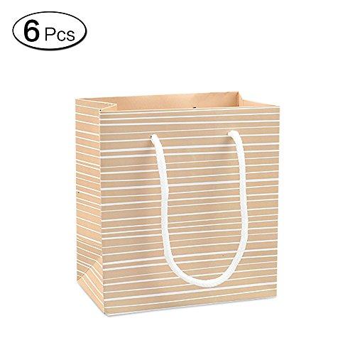 Jia HU 6mode weiß Geschenk Beutel mit Griffen Verpackung Tasche Bulk für Craft Einkaufstasche S Gestreift
