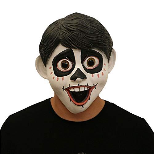 co MiG Little Boy Maske Halloween Maske Kopfbedeckung Cosplay TV Party Requisiten verkleiden Sich Vollkopf Maske Latex,White-OneSize ()