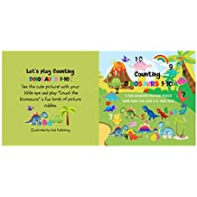 Counting Dinosaurs 1-10: Funny Picture Riddle Book Game for Boys or Girls 2-5 Year Olds. (English Edition)