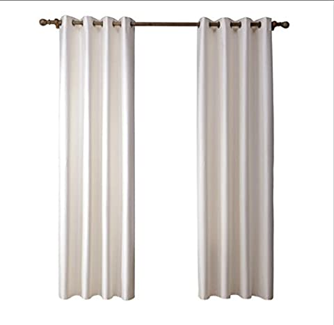 1 Paar Imitation Double Layer Tuch Licht Transmission 90% Schatten Fenster Vorhang , 52*84in