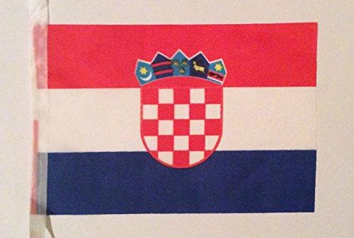 Banma kleine Kroatien Fahne/Croatia Flag, 14 x 21 cm