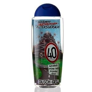 Lustige Apotheke Duschgel gegen Altersgeruch zum 40. Geburtstag
