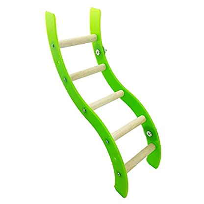 Pet Bird Parrot Hamster Acrylic Wave Ladder Stand Crawling Ladders Cage Play Fun Toy 4