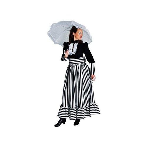 Kleid 19 Jahrhundert Kostüm - Kostüm Viktorianische Dame in schwarz - weiß Gr. XXL = 46