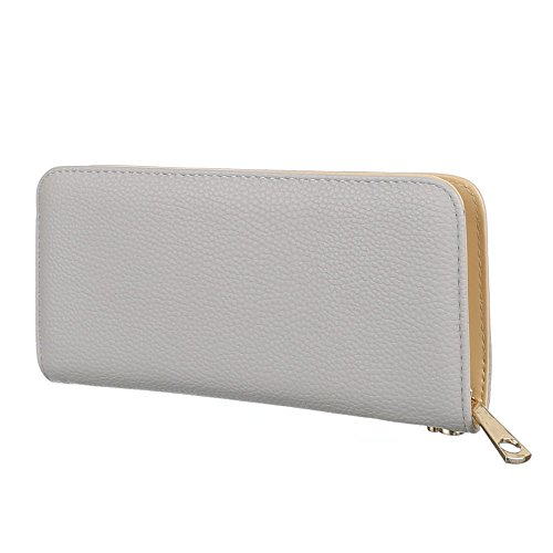 Schuhcity24 Damen Portemonee Geldbörse Brieftasche Hellgrau