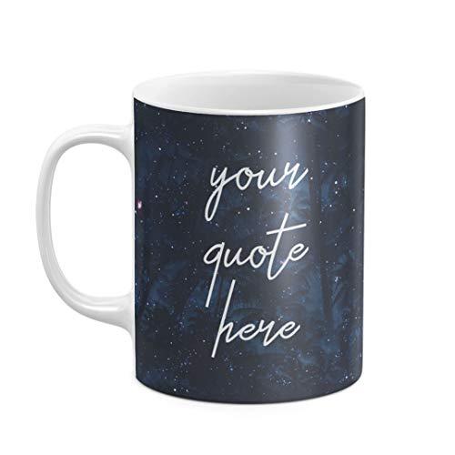 Personalisiert Tasse, Initialen von Vor- und Nachname, Your Custom Quote Text Name Create Your Own...