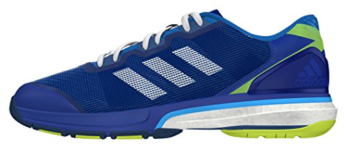 adidas Herren Stabil Boost II Handballschuhe Blau (Collegiate Royal/Footwear White/Solar Yellow)