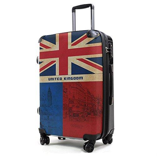 HAUPTSTADTKOFFER 40 Liter (ca. 55 x 35 x 24 cm) · Handgepäck · Modell: STYLE · TSA Schloss · ENGLAND / UNION JACK