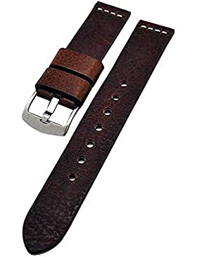 Uhrenarmband Ravenna XL extra lang braun 20mm Kalbleder 3899